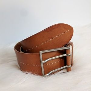 Banana Republic Leather SIlver Belt